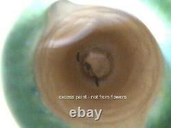 Vtg Roseville Laurel vase green brown 668-6 arts & crafts antique US made 1930s