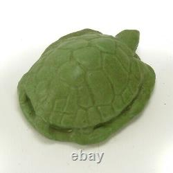 Walrath Pottery matte green sea turtle paperweight Arts & Crafts New York