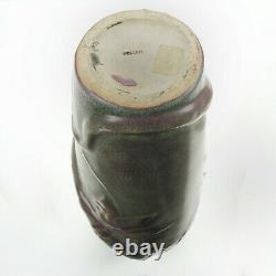 Weller Pottery 18 Fru Russett matte ware snake & bird vase Arts & Crafts