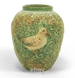 Weller Pottery 5 Glendale shore bird vase Arts & Crafts