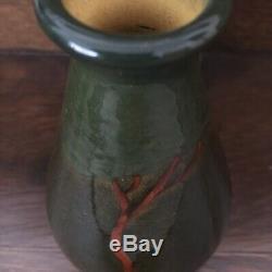 Weller Pottery Birdimal Landscape Vase Frederick Rhead Arts & Crafts Mission Era