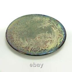 Weller Pottery Sicard 10.5 plate iridescent luster rococo daisy Arts & Crafts