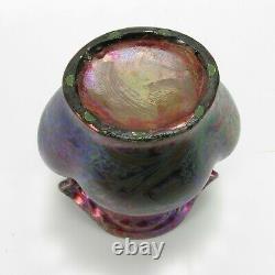 Weller Pottery Sicard 8.75 iridescent luster handled floral vase Arts & Crafts