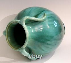Weller Pottery Vase Nile Vintage Large Arts & Crafts Green Drip Flambe 12