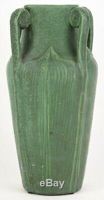 Wheatley 12 Fiddlehead Arts And Crafts Matte Green Vase Grueby Style