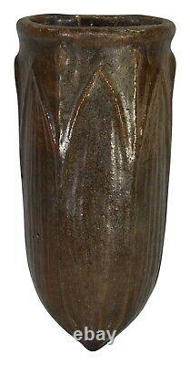 Wheatley Pottery Large Leaf Brown Arts And Crafts Wall Pocket