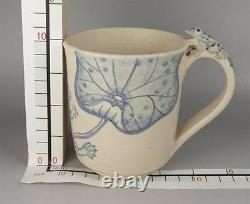 YM10 Mug Cup Japanese Crafts Frog Amphibian Animal Pottery ceramics Tableware