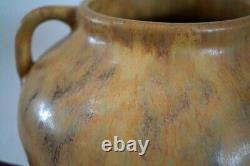 ZANESVILLE STONEWARE Large Vulcan Pottery Vase Ohio Arts & Crafts Pottery