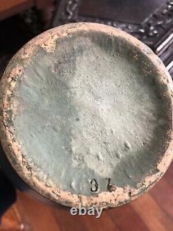 Zanesville Pottery Arts & Crafts #37 Matte Green 12 Vase Vintage