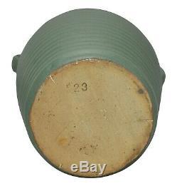 Zanesville Stoneware Pottery Matte Green Arts and Crafts Ceramic Vase 523