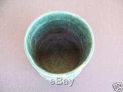 Zanesville Stoneware Pottery Matte Green Vase Arts & Crafts Style